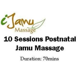 10 Sessions Postnatal Jamu Massage