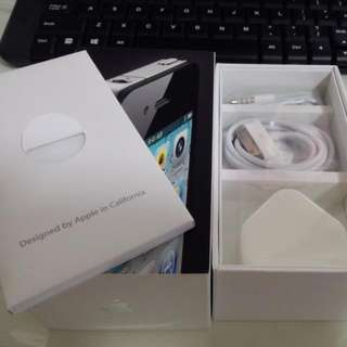 Iphone 4  Box And Accessories