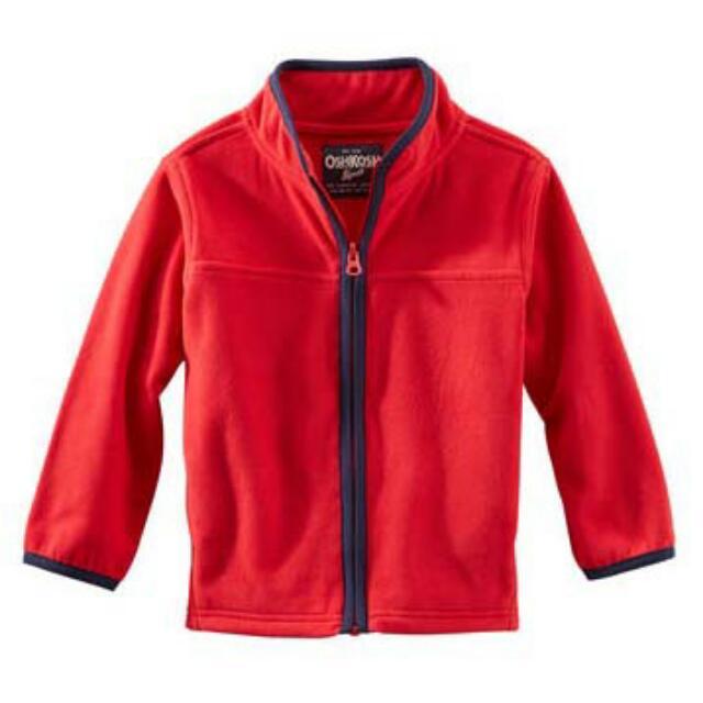 BN Size 6yr Red Full-Zip Microfleece Jacket For Kid Boy - Pkoshkosh Pkboy