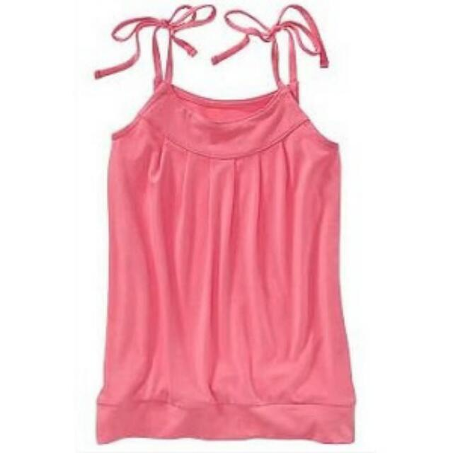 BN Size XS(5yr) Pink Jersey Bubble Tank Top For Kid Girl - Pkoldnavy Pkgirl