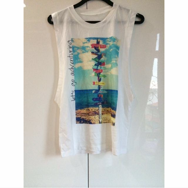 BN White Muscle Tanks