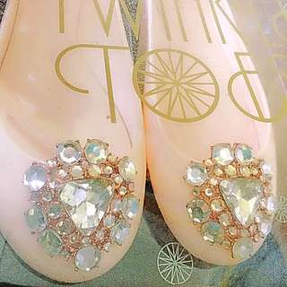 SLASHED PRICE! 100% Authentic Ted Baker Jeweled Jelly Shoes (Peach)