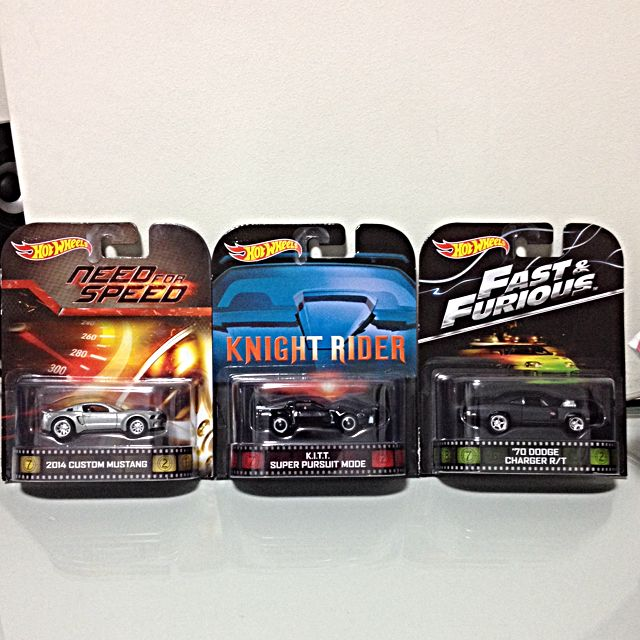 Hot Wheels Need For Speed 2014 Custom Mustang Knight Rider K I T T Super Pursuit Mode And Fast Furious 70 Dodge Charger R T Toys Games On Carousell