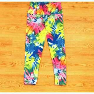 b7c89915b680d8 Groovy Lovezuvi Yoga Capri Leggings Sz M * Teeki Hot Yoga tie Dye Nike  Lululemon Reebok