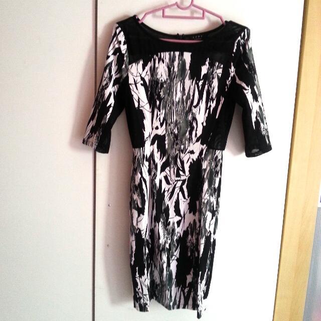 Pre-loved Mesh Insert Bodycon Dress Ezra By ZALORA