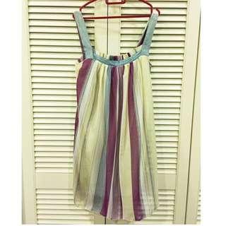 Stripe Chiffon Babydoll Dress