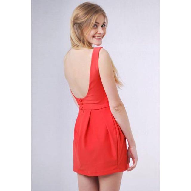 LAB Low Back Dress (blue)