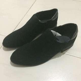 Korean Black Oxford Leather Fashion Shoe