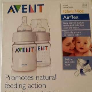 avent feeding bottles (two) in box