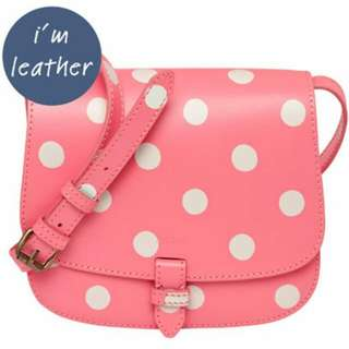 CATH KIDSTON BUTTON SPOT SMALL LEATHER CROSS BODY BAG