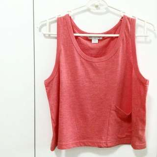 COTTON ON CROP TOP WITH POCKET