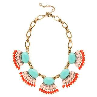 Ethnic Tribal Colorful Statement Necklace