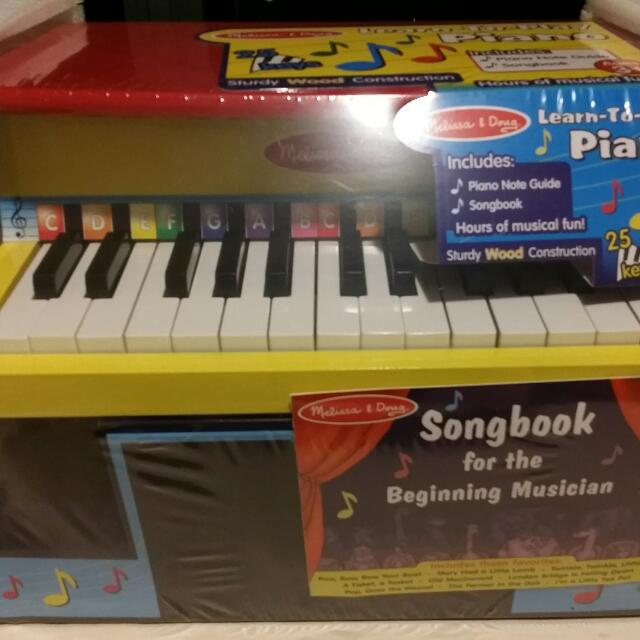 Reserved Bnib Melissa Doug Learn To Play Piano Babies