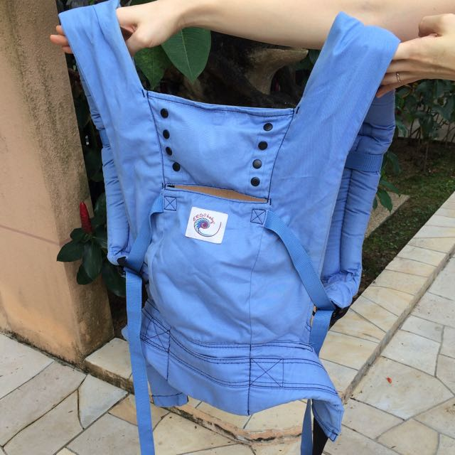 light blue ergo baby carrier