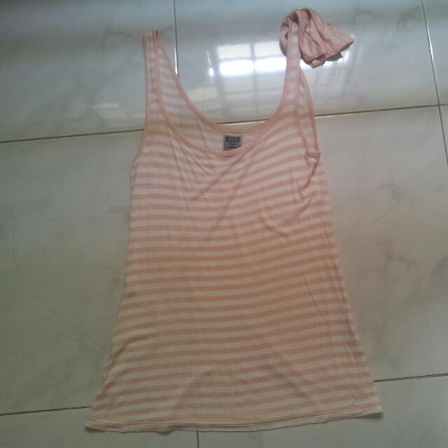 b88137447fb835 Pull   Bear Striped Tank Top (Pink)