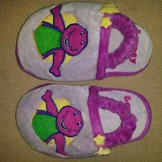 Barney kids home slippers