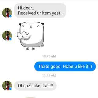 Feedback From Buyer ^^ Do Continue To Support Me!
