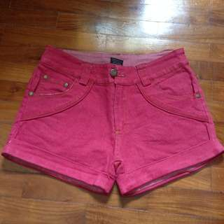 BN Red Denim Shorts from Surfers Paradise