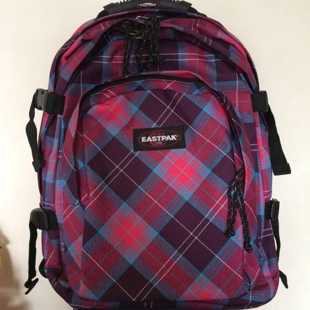 brand new pink-purple eastpak backpack
