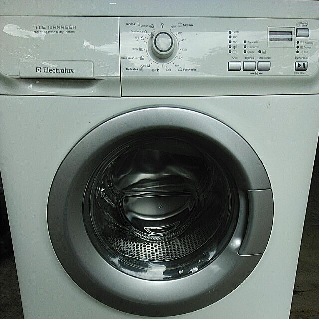 Reservedelectrolux 7kg Washer N 5kg Dryer Eww1274 Home Appliances