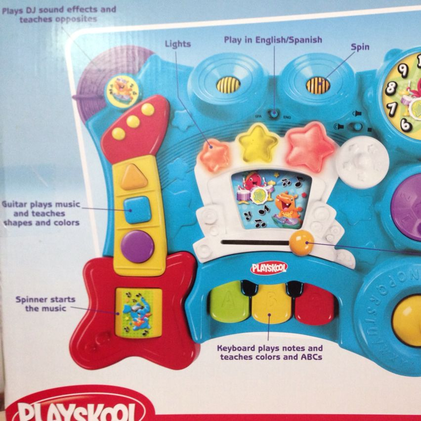 Hasbro-Playskool multi-activity sit to stand musical table