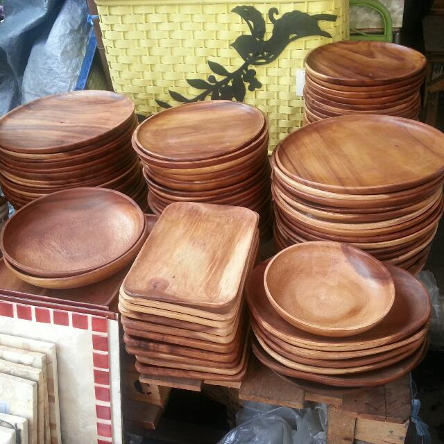 photo photo photo photo & Wooden Charger Plate Or Dessert Plates And Bowls Furniture on Carousell