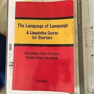 EL1101e Textbook: The Language Of Language