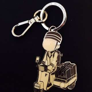 Porter Man Riding Scooter keychain