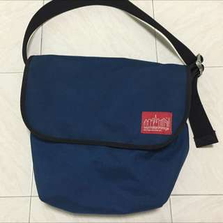 Manhattan Portage Vintage Messenger Bag (Blue)