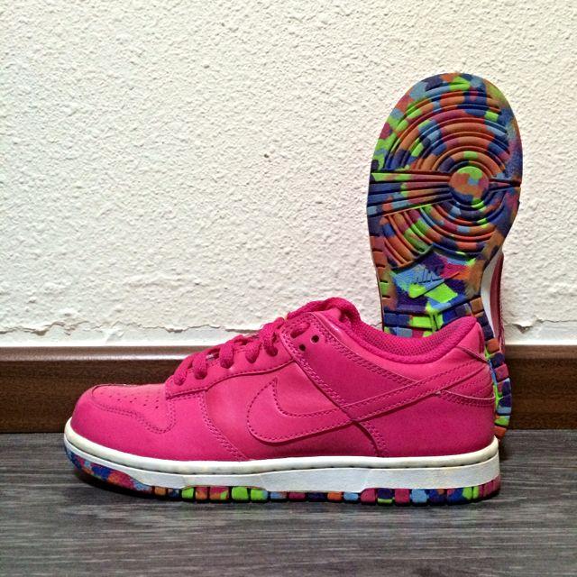 aad04937391e41 Nike Womens Dunk Low Retro Basketball Shoes Vivid Pink   Vivid Pink ...