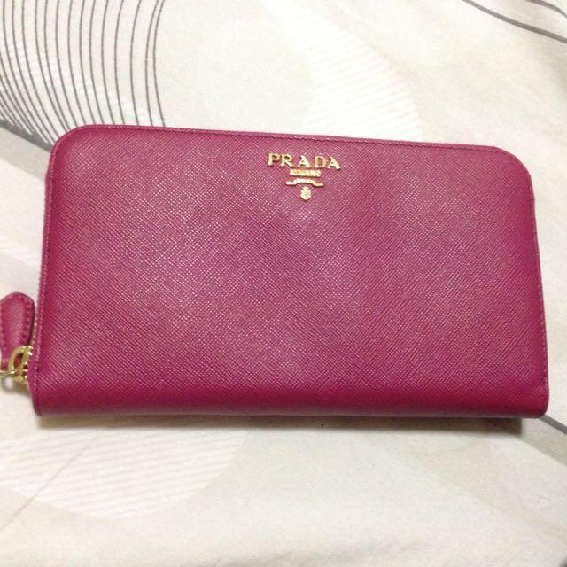 58301d5d63d848 Prada Milano Wallet, Luxury on Carousell