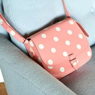 CATH KIDSTON *NEW AND AUTHENTIC* Button Spot Small Leather Crossbody Bag (PINK)