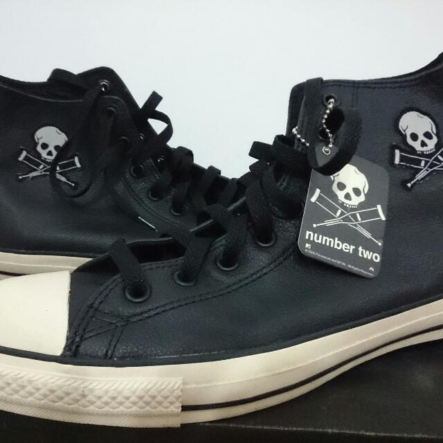 b45d69f4cb44 Converse Jackass Number Two Leather Hi-cut Sneakers Limited Edition ...