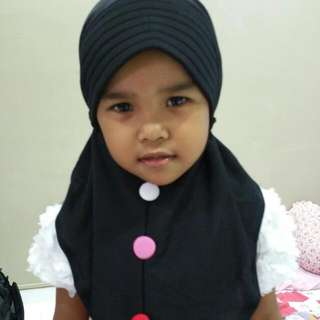 Instant Tudung For Kids (Buttons)