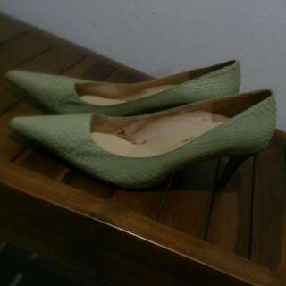 Brand New Light Green Pointed High Heels