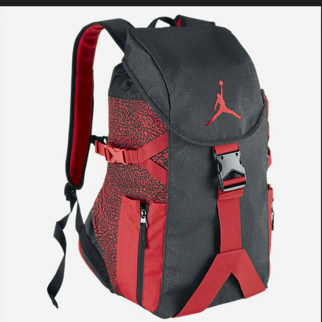 6c049e8669be Price Reduced Air Jordan Jumpman Top Loader Backpack (Black Red ...