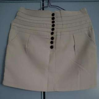 Buttoned Skirt In Grey