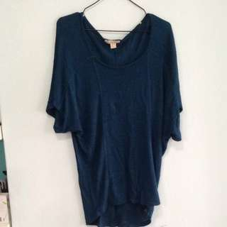 Forever 21 Green Batwing Cotton Top. Fits UK Size 10. Collection At Pasir Ris Mrt Station. No Trades.