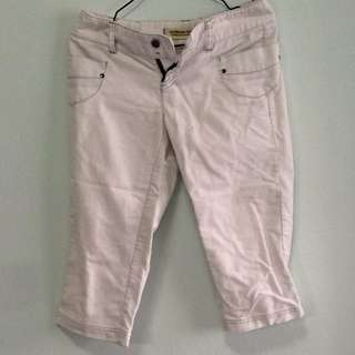 Giordano Women Drop Waist Capri. White With Grey Stitching. Collect At Pasir Ris Mrt Sation. No Trade.