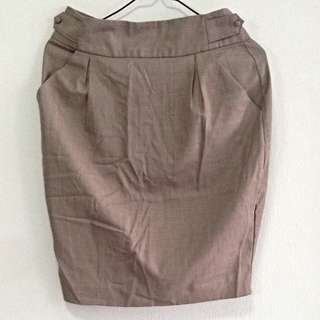 Love 21 Grey Work Skirt. Fits UK 8/10. Collection At Pasir Ris Mrt. No Trade.