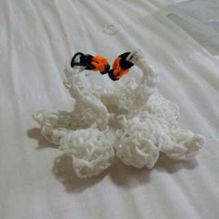 Handmade Loom Lovely Swan