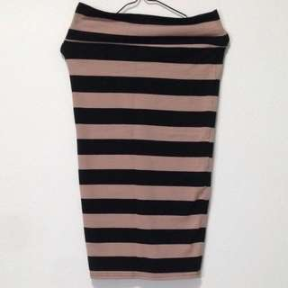 BN Cotton On Stripe Bandage Skirt. Size XS.