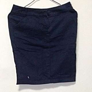 Mango Basic Navy Blue Formal Skirt. Fits UK 6. No Trade