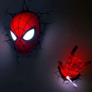 Marvel 3D Spiderman Night Light (Head And Hand)