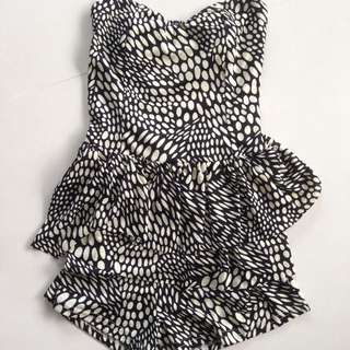 Printed Peplum Playsuit