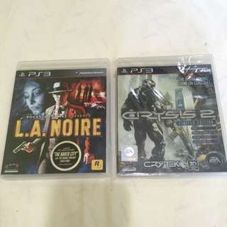 PS3 Games (L.A Noire And Crysis 2)