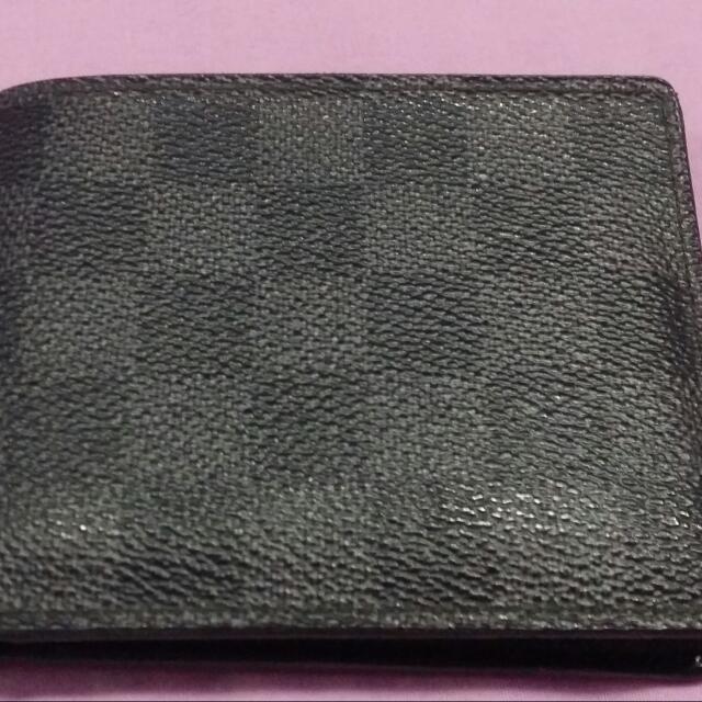 Authentic Lv Damier Graphite Men's Wallet