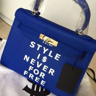 Brand New Saint HK Season 6 Royal Blue 28cm Gold Hardware
