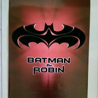 Batman & Robin Movie Poster (Rare, Velvet)