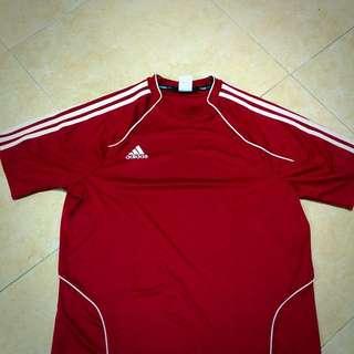 Red Adidas Climalite Shirt